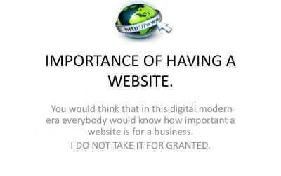 The Importance Of Having A Website!!!
